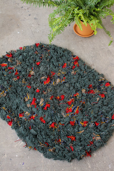 Recycled Wool Rug | Multi-Colored