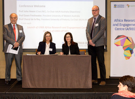 UP signs agreement with The University of Western Australia