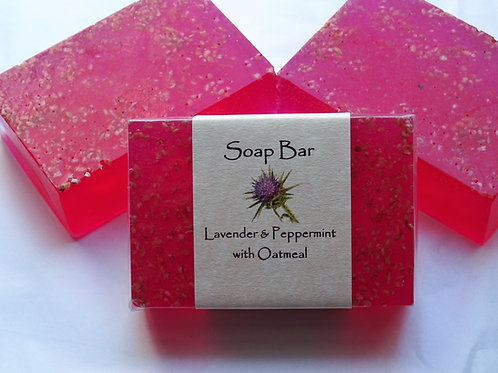Lavender & Peppermint with Oatmeal Soap Bar
