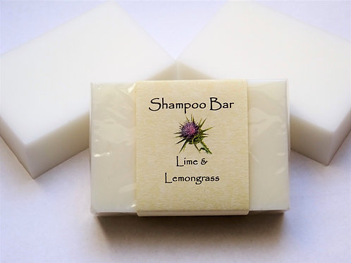SOLID SHAMPOO BAR - LIME & LEMONGRASS