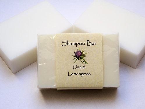SOLID SHAMPOO BAR - LIME & LEMONGRASS