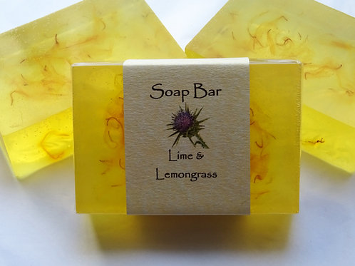 Lime & Lemongrass Soap Bar