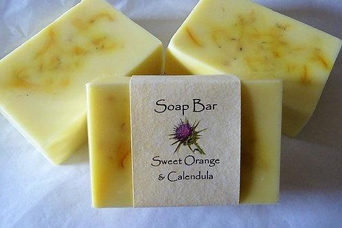 Sweet Orange & Calendula Soap Bar