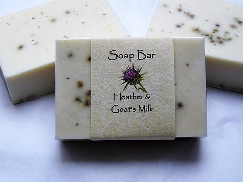 Heather & Goat's Milk Soap Bar