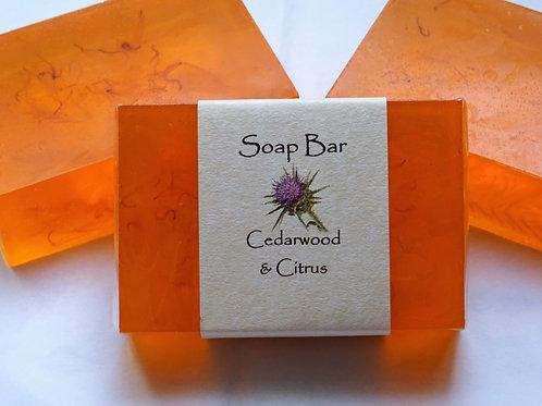 Cedarwood & Citrus Soap Bar