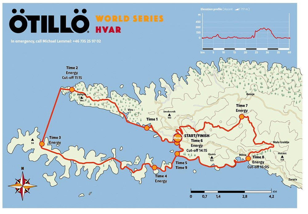 Ötillö Hvar World Series Map of the race course