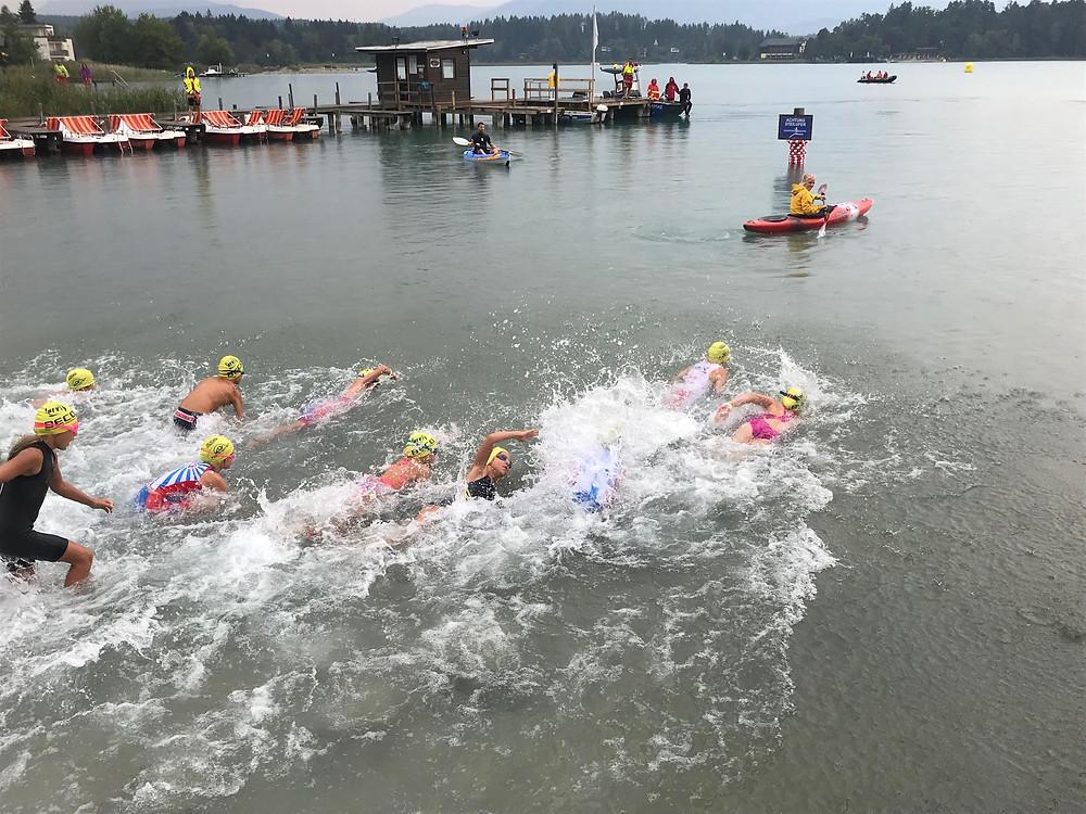 Start der Kinderbewerbe beim Faaker See Open Water