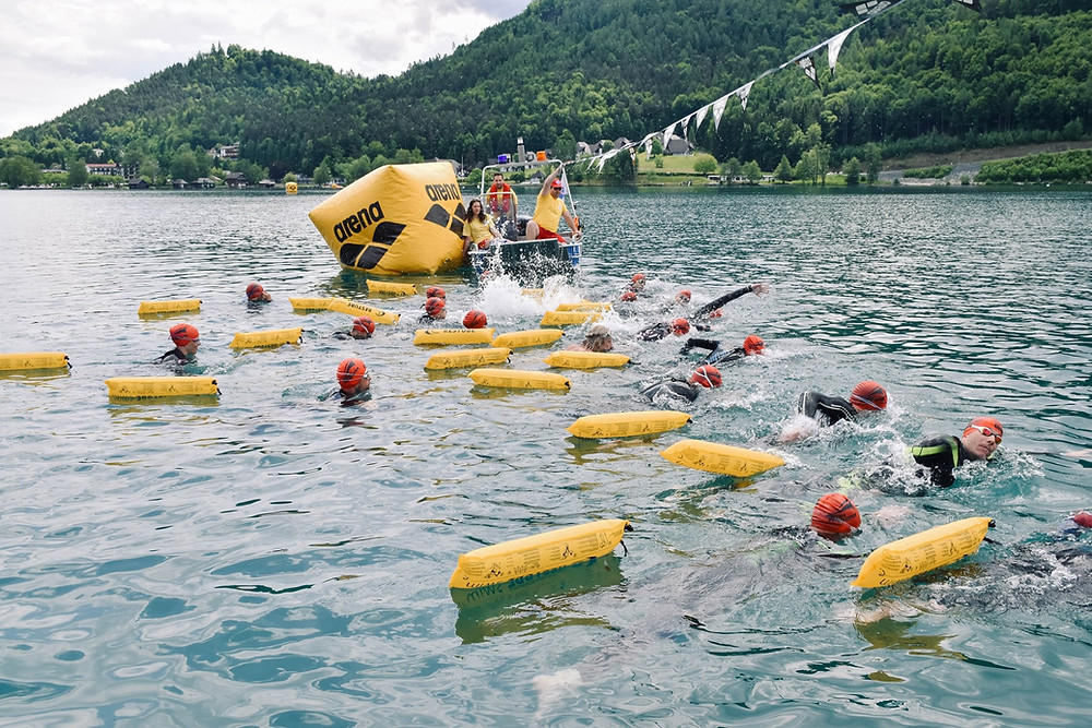 Start bei den Klopeiner See Swim Open 2019