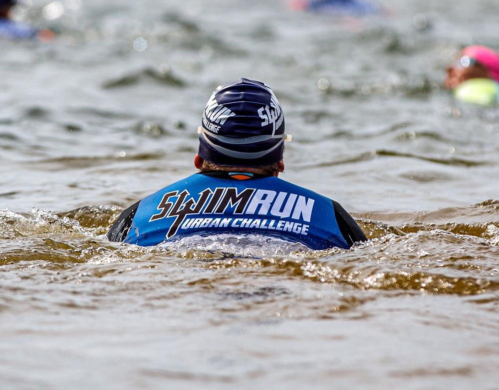 SwimRun Urban Challenge Logo mit Schwimmer