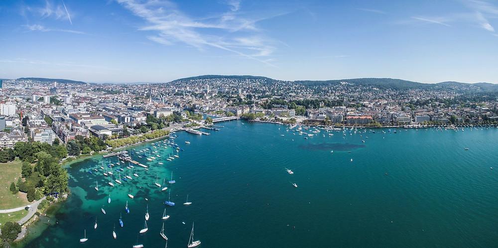 Zürich und der Zürcher See