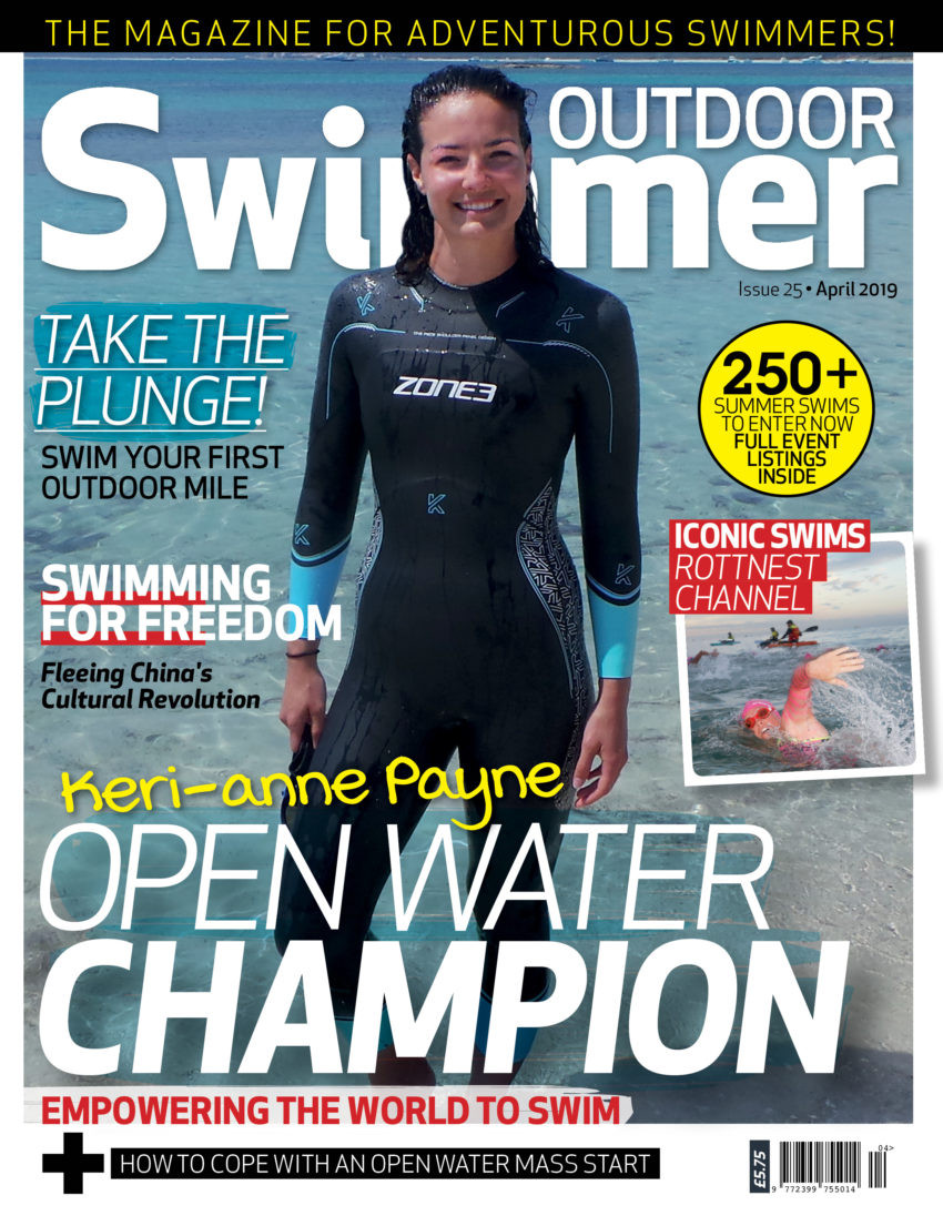 Cover of the Outdoor Swimmer Magazine in April 2018