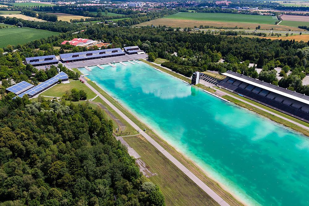 Das Langstrecken Schwimmen München in der Regattastrecke Oberschleißheim