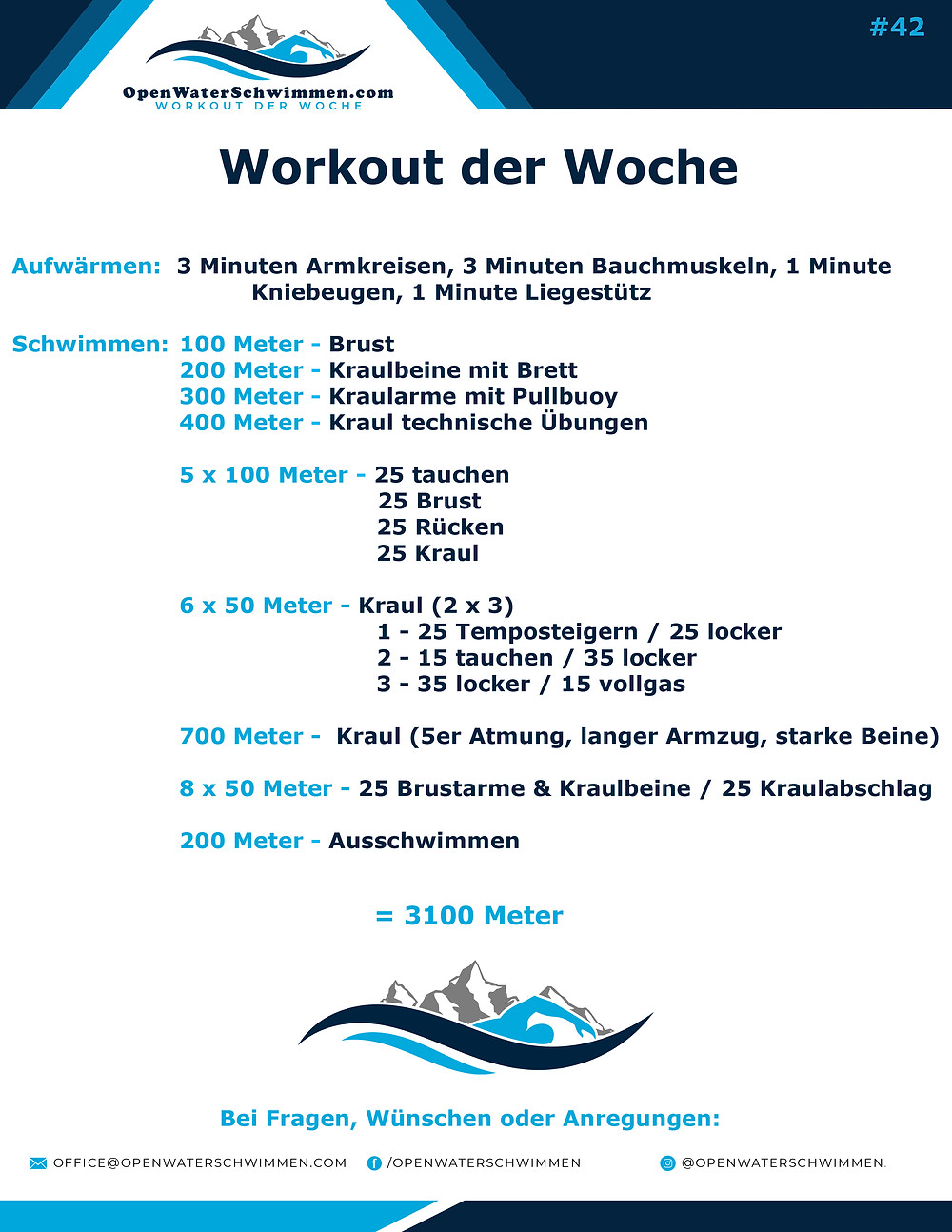 Open Water und Triathlon Training