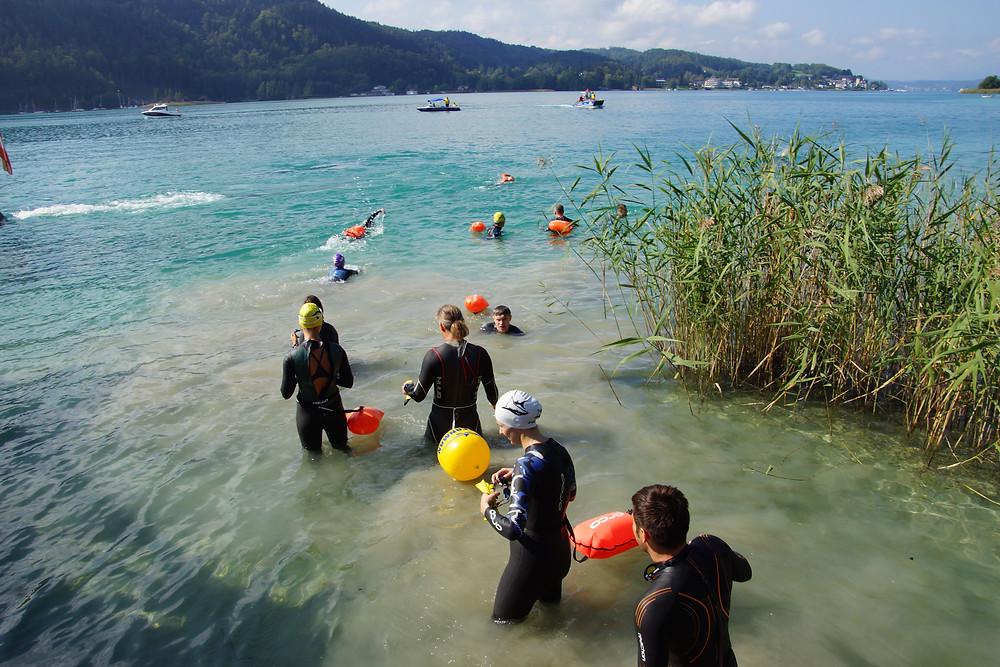 Freiwasser Schwimmer im Wörthersee beim Wörthersee Swim