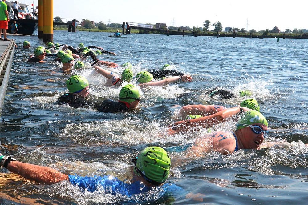 Start des Hamburger Freiwasser Schwimmen