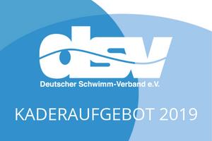 Deutscher Schwimm-Verband Kaderaufgebot 2019