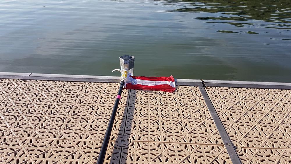 Feedingstick der Österreichischen Open Water Schwimmer beim Europa Cup in Frankreich