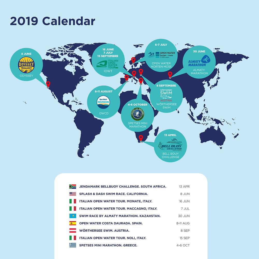 Open Water World Tour Calender 2019