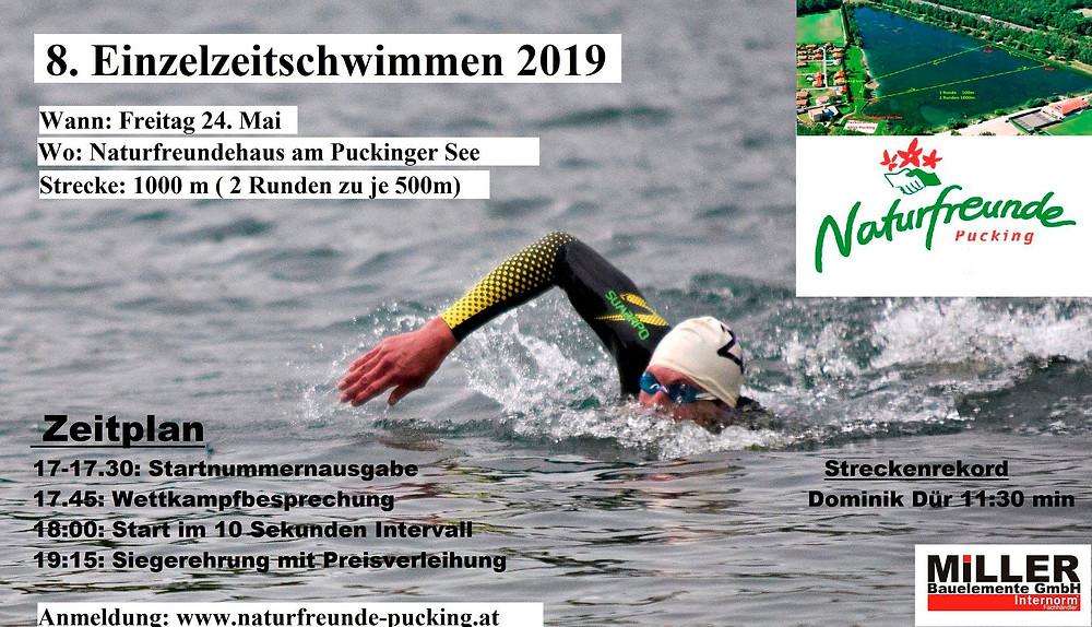 Informationen zum Einzelzeitschwimmen in Pucking