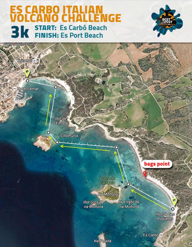 BEST Fest Mallorca 3 Kilometer route
