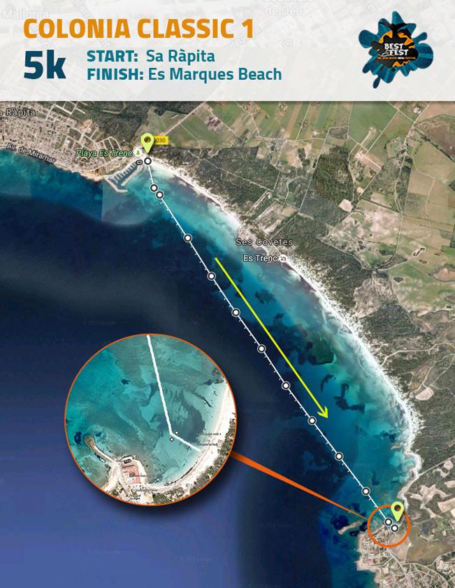BEST Fest Mallorca 5 Kilometer route