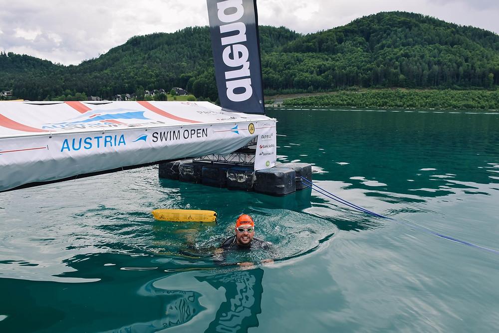 Austria Swim Open Zielbogen im Klopeiner See