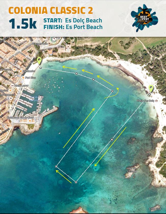 BEST Fest Mallorca 1,5 Kilometer route