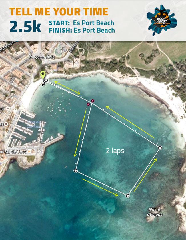 BEST Fest Mallorca 2,5 Kilometer route