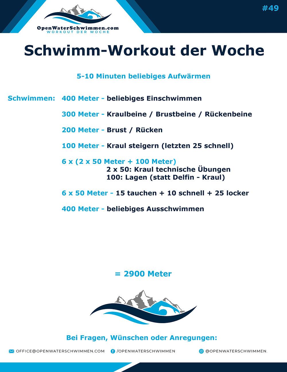 Das Schwimm-Workout der Woche Nummer 49
