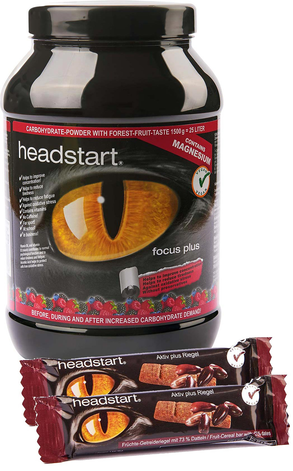 Headstart Carbohydrate Pulver waldbeere