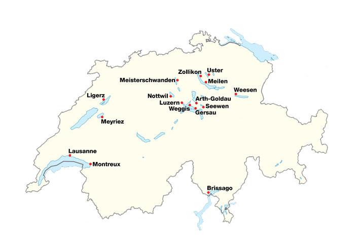 Swiss openWater-Cup Karte aller veranstaltungen