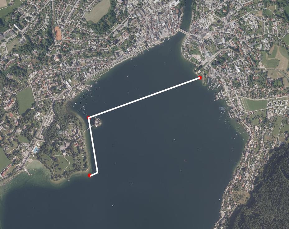 Gmundner Seecrossing 1500 Meter Strecke