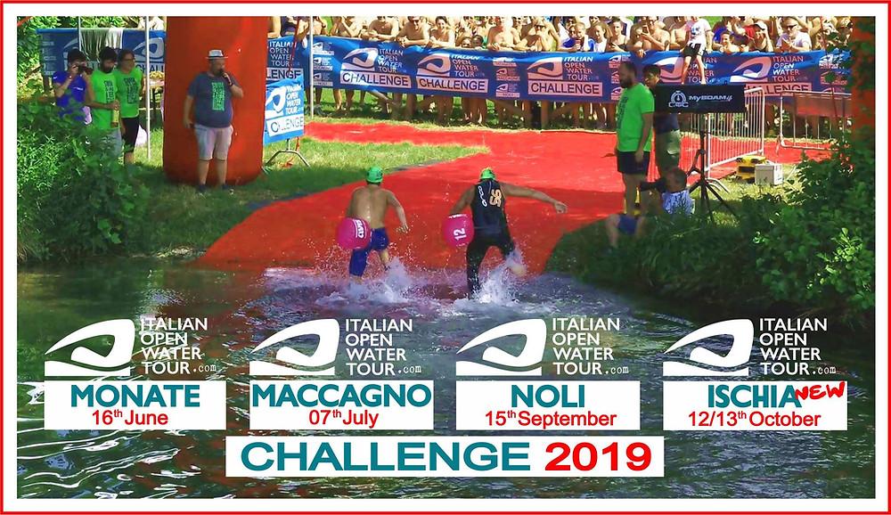 Die Stationen der Italian Open Water Tour 2019