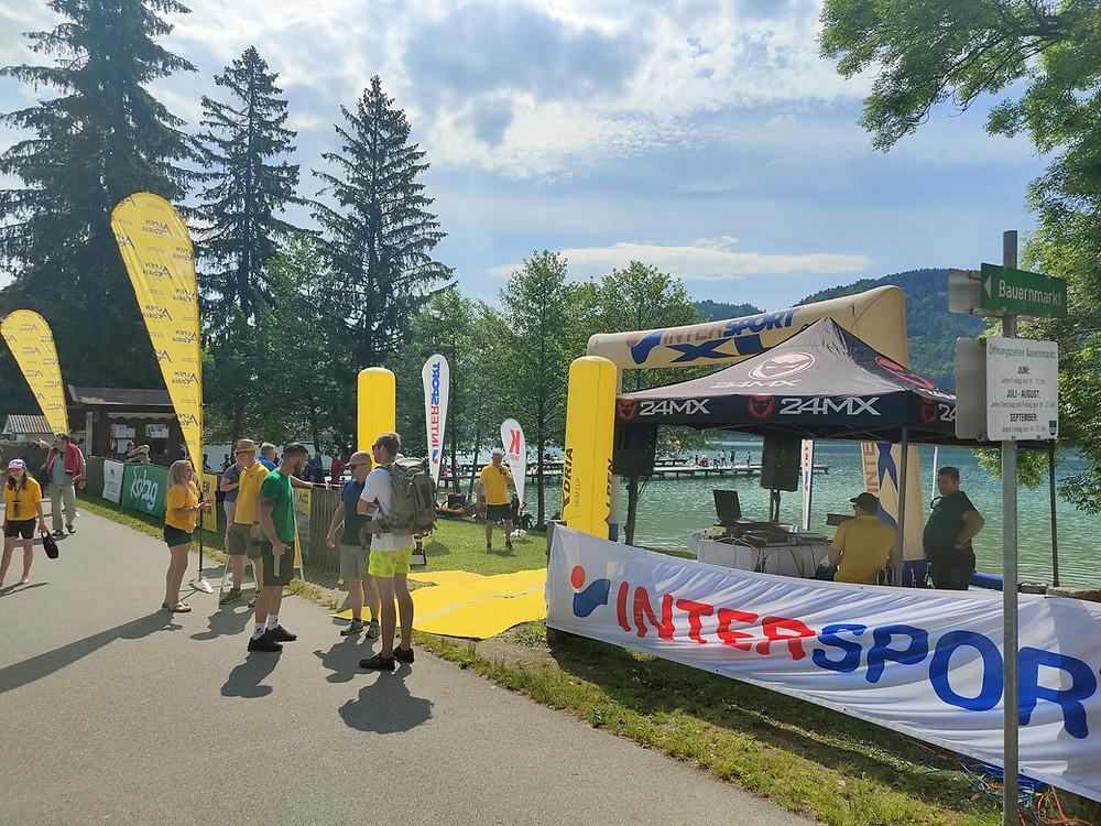 Zieleinlauf Alpen Adria Swim Cup Klopeinersee