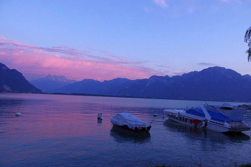 Genfersee Sonnenuntergang
