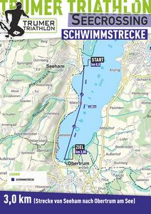 Die 3,0 km Strecke des Trumer Triathlon Seecrossing