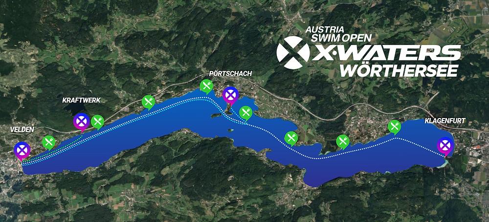 Wörthersee Swim Open 2019 Strecken
