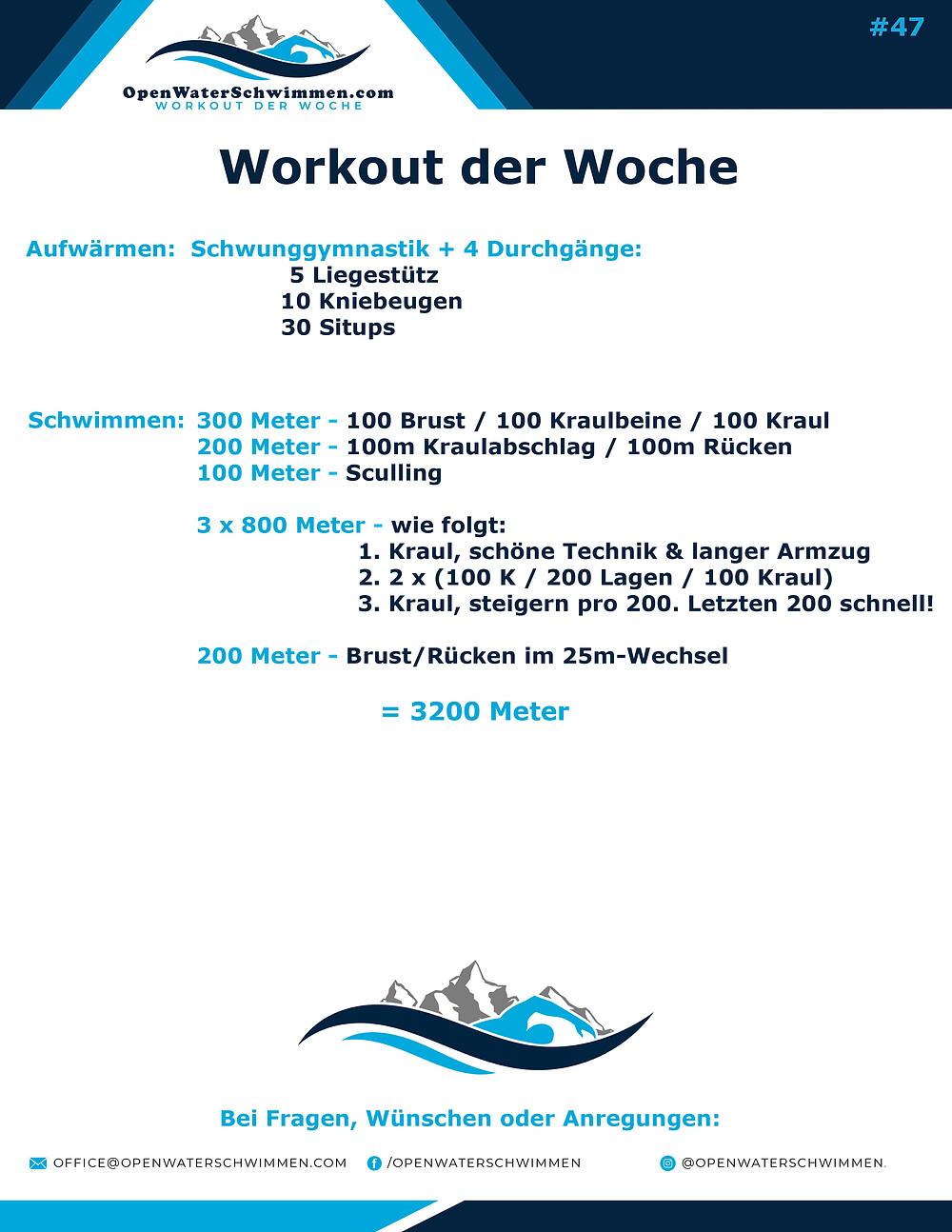 Das Schwimm-Workout der Woche Nummer 47