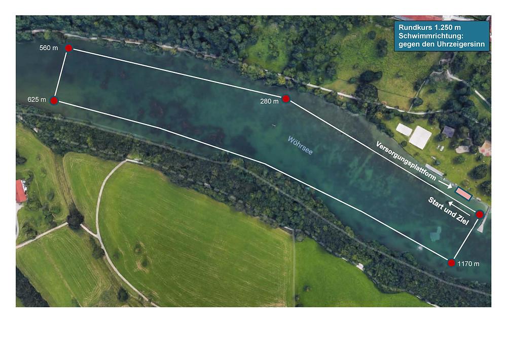 Deutsche Freiwasser Meisterschaften 2019 Strecke