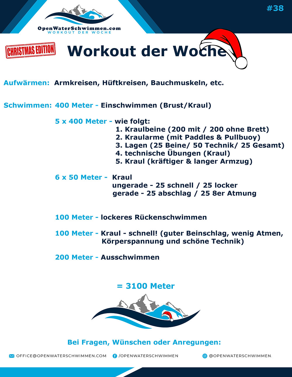 Schwimm Trainings programm