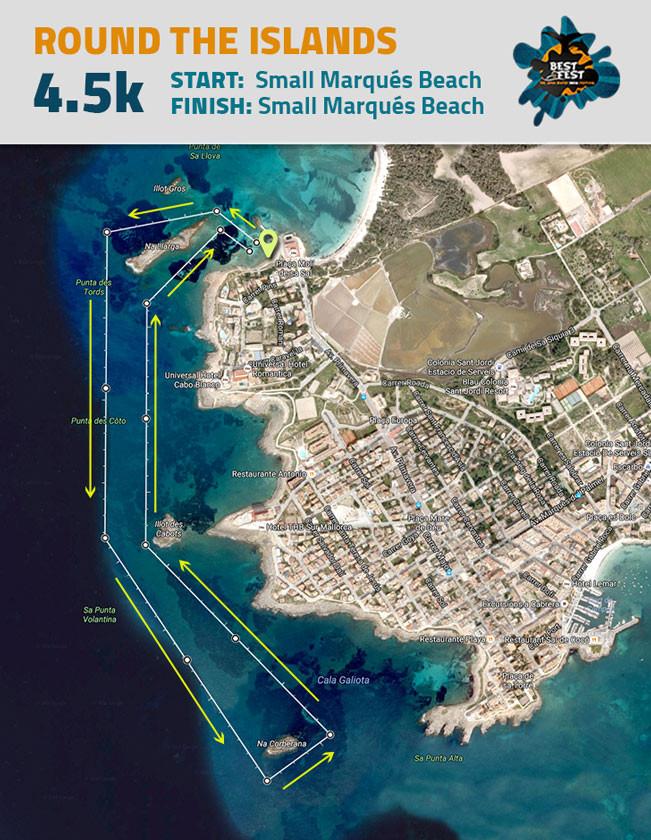 BEST Fest Mallorca 4,5 Kilometer route