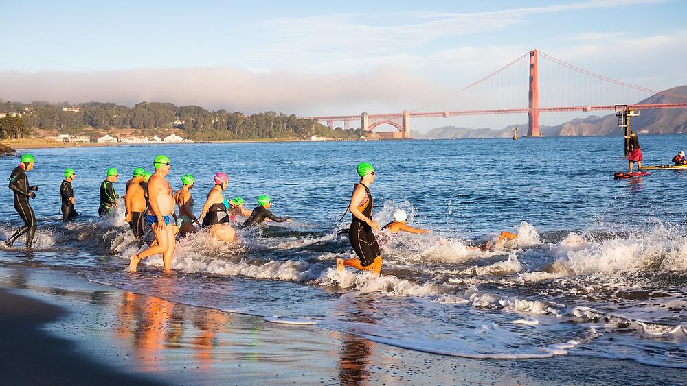 Von Alcatraz nach San Francisco Schwimmen