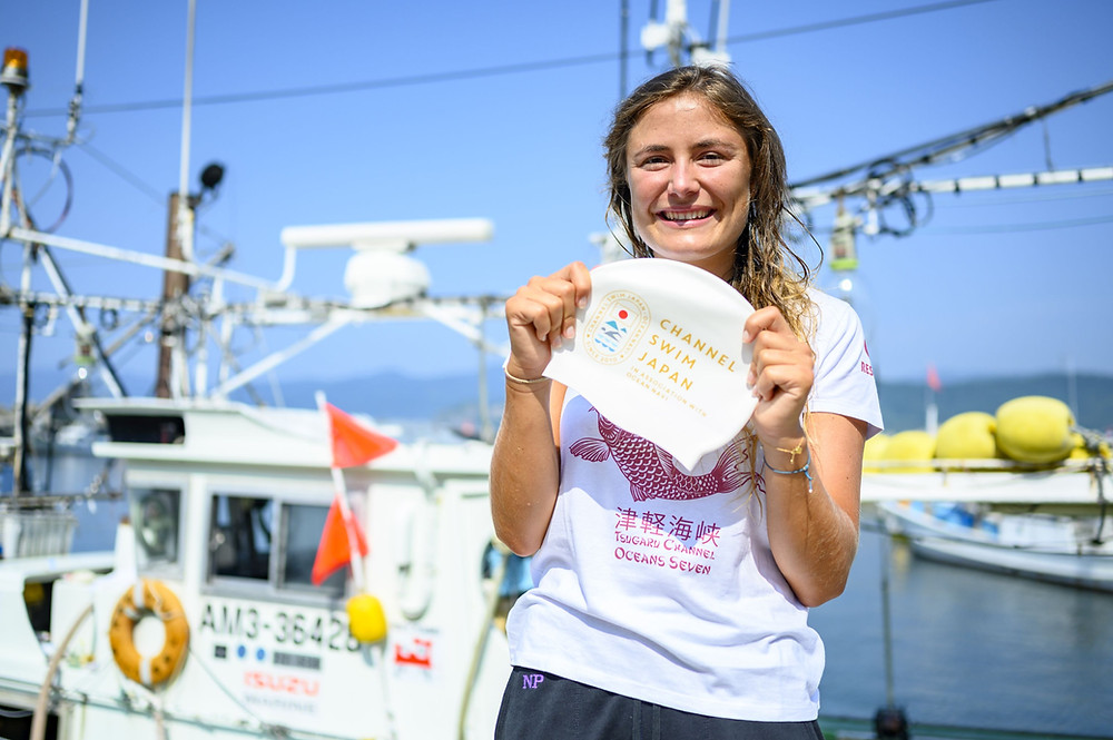 Nathalie Pohl Channel Swim Japan