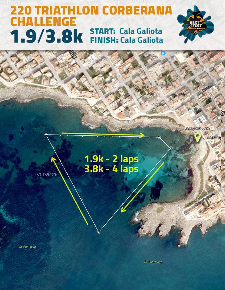 BEST Fest Mallorca 3,8 Kilometer route