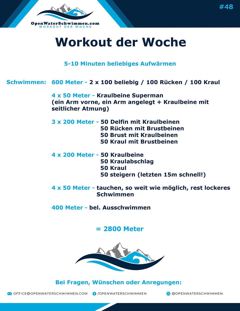 Das Schwimm-Workout der Woche Nummer 48
