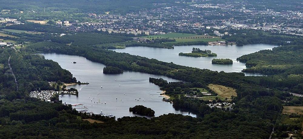 Unterbacher See Luftaufnahme