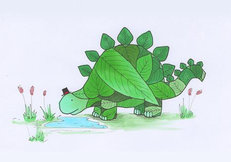 Dinosaur With A Tiny Hat