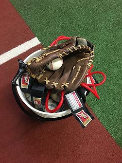 Baseball glove with baseballs and Jaeger bands