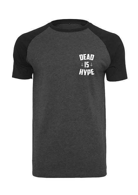 Dead is Hype Raglan Tee - Black&Charcoal