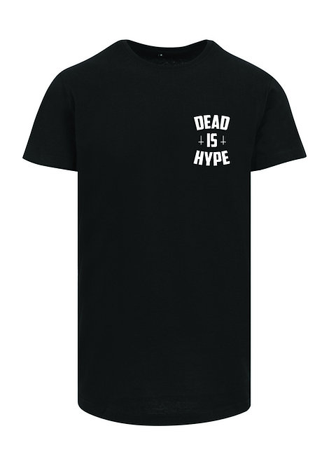 Dead is Hype Long Tee - WhiteOnBlack